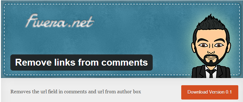 remove links from comments