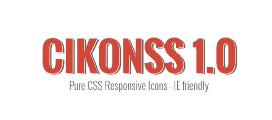CIKONSS - free icon font