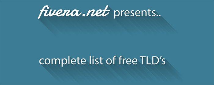 Free top level Domain Names - the complete list of TLD