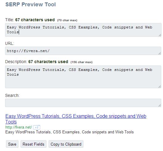 serp tool screenshot