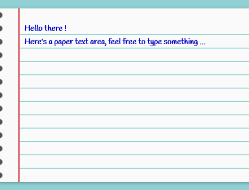 Paper Text Area Created with CSS only – Editable Example
